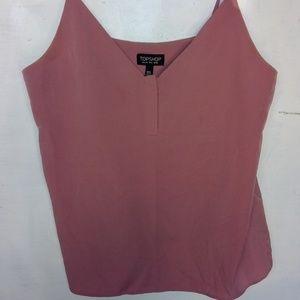 TOPSHOP Pink Tank Top Blouse